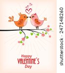 two cute birds. card for... | Shutterstock .eps vector #247148260