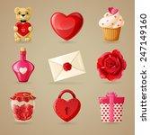love wedding and valentine's... | Shutterstock .eps vector #247149160