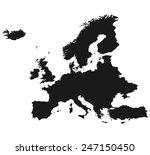 map of europe | Shutterstock .eps vector #247150450