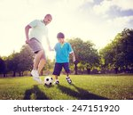 family father son playing... | Shutterstock . vector #247151920