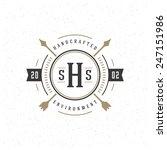 retro vintage insignia ... | Shutterstock .eps vector #247151986