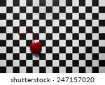 Red Heart Shape With A String...