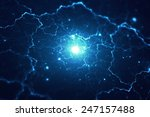 abstract blurry explosion... | Shutterstock . vector #247157488
