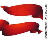 red waving ribbon banner | Shutterstock . vector #247157938