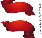 red waving ribbon banner | Shutterstock . vector #247157944