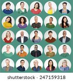 diverse people multi ethnic... | Shutterstock . vector #247159318