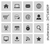 internet icons | Shutterstock .eps vector #247160839