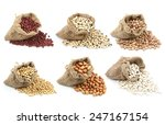 Collection Of Legumes In Canva...