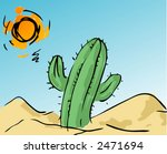 Illustration Of A Cactus In Th...