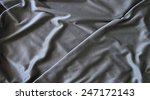 black creased material texture | Shutterstock . vector #247172143