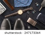 men accessories   | Shutterstock . vector #247173364