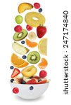 fruit salad with fruits like... | Shutterstock . vector #247174840
