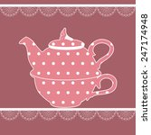 Vintage Teapot In Pink Color...