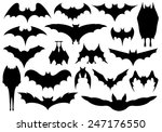 set of different bats isolated... | Shutterstock .eps vector #247176550