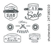 Set Of Vintage  Classic Car...