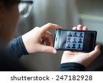 social network on mobile  | Shutterstock . vector #247182928