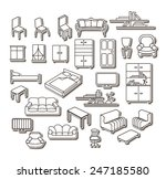 graphical furniture set ... | Shutterstock .eps vector #247185580