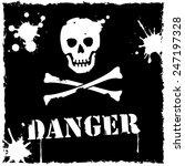 vector danger icon black and... | Shutterstock .eps vector #247197328