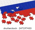 russian puzzle flag with white | Shutterstock . vector #247197433