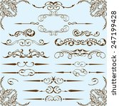victorian style set is on blue | Shutterstock .eps vector #247199428