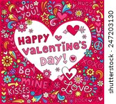 happy valentine's day love... | Shutterstock .eps vector #247203130