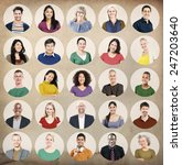 diverse people multi ethnic... | Shutterstock . vector #247203640