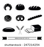 bread icon set. vector... | Shutterstock .eps vector #247214254