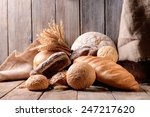 Different Bread On Table On...
