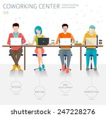 concept of the coworking center....   Shutterstock .eps vector #247228276
