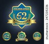 celebrating 62 years... | Shutterstock .eps vector #247235236