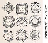 set of vintage frames for your... | Shutterstock .eps vector #247248499
