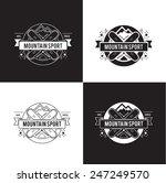 vintage label design. sport and ... | Shutterstock .eps vector #247249570