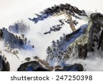 Mountain Landscape With Pine...