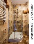 interior of a modern bathroom....   Shutterstock . vector #247256380