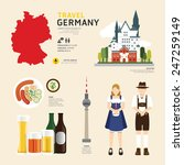 travel concept germany landmark ... | Shutterstock .eps vector #247259149