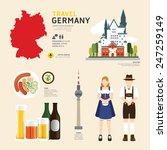 travel concept germany landmark ... | Shutterstock .eps vector #247259149