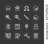 vector flat icons set of real... | Shutterstock .eps vector #247259614