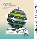 world travel design open book...   Shutterstock .eps vector #247260238