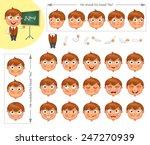 schoolboy. parts of body... | Shutterstock .eps vector #247270939