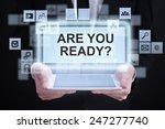 businessman holding a tablet....   Shutterstock . vector #247277740
