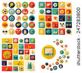 flat concept  design with... | Shutterstock . vector #247283800