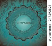 vintage background  greeting... | Shutterstock .eps vector #247293829