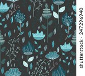 Floral Frozen Grey Pattern....