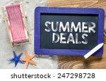 summer deals text on... | Shutterstock . vector #247298728