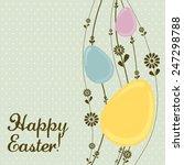 vintage easter egg template... | Shutterstock .eps vector #247298788