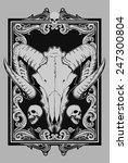 sheep skull | Shutterstock .eps vector #247300804