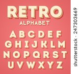 colorful retro 3d characters set | Shutterstock .eps vector #247303669