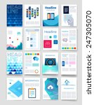 templates. set of flyer ... | Shutterstock .eps vector #247305070
