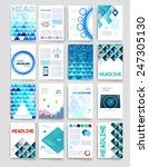 templates. set of flyer ... | Shutterstock .eps vector #247305130