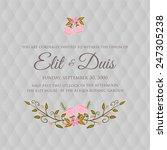 wedding invitation card | Shutterstock .eps vector #247305238